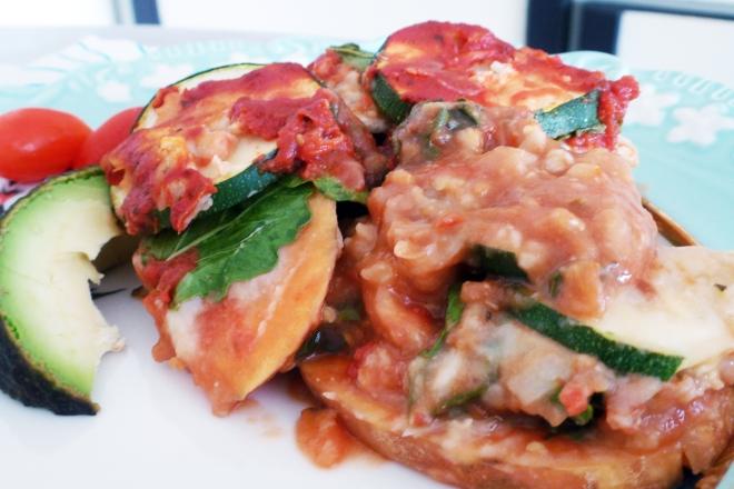 Veggie casserole served