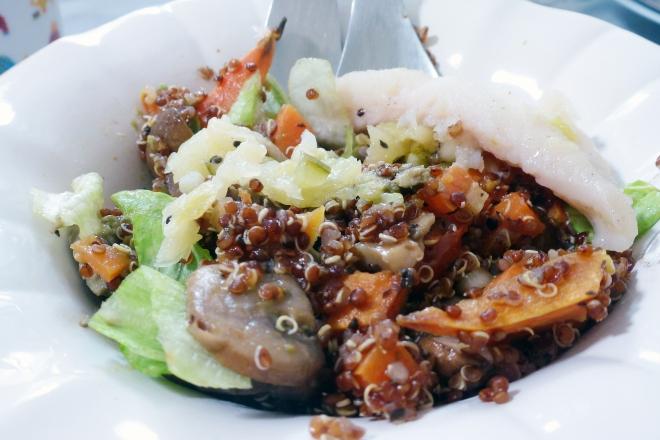 SP quinoa mushroom pilaf