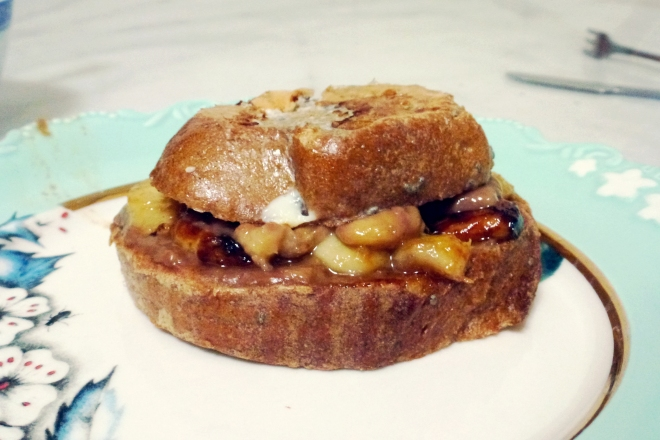 French toast banana cocochoc [side] (020713)
