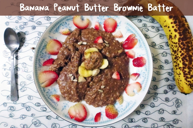 Oatmeal chocolate banana brownie PB batter feature (010713)